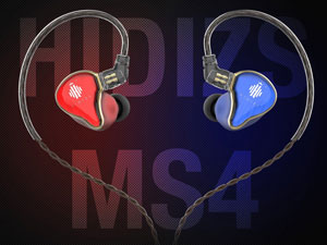 Hidizs MS4 Mixed Red&Blue